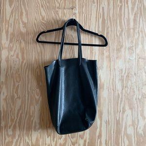 Baggu, black leather tote